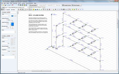 Pipe Flow Expert Example Systems RH10 | Hvac Isometric Drawing |  | Pipe Flow Expert Example Systems RH10
