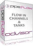 Pipe Flow Advisor Software for open channel flow and tank emptying times