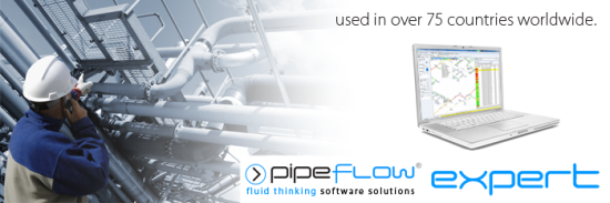 Pipe Flow Expert Software used in over 75 countries worldwide