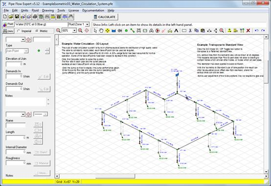 pipe flow expert software isometric example systems