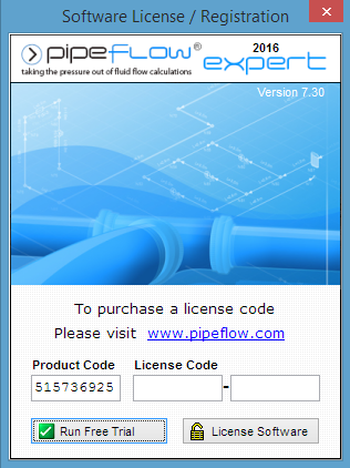 Pipe Flow Expert Software Product Code and License