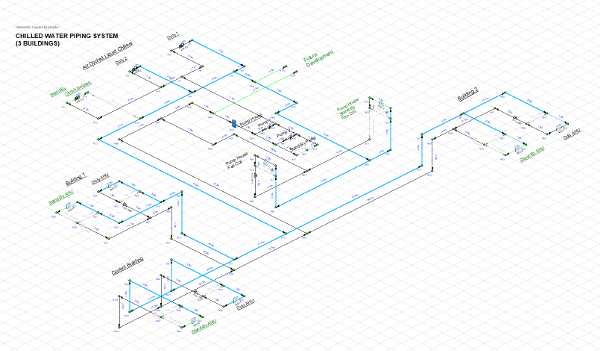 Pipe Flow Expert Software Isometric 3D View