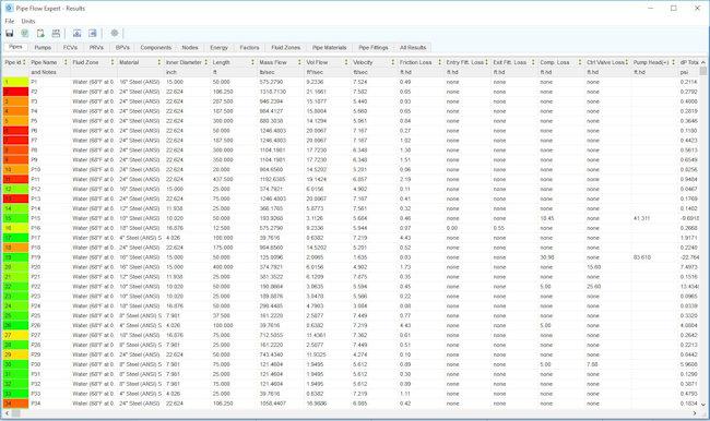 Pipe Flow Expert Software Screenshots