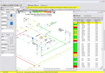 pipe flow expert software  model pipe networks  calculate flow    pipe flow expert software results screen visual