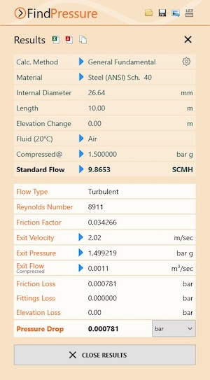 Pipe Flow Calculator, Pipe Flow Wizard for flow and pressure drop calculations on a single pipe