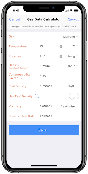 Pipe Flow Wizard Gas Calculator