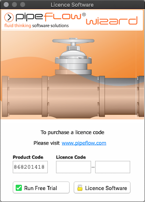 Pipe Flow Wizard Software for macOS Product Code and License